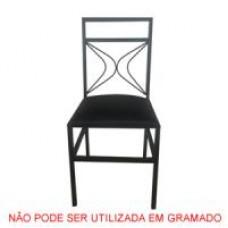 CADEIRA DE FERRO PRETA